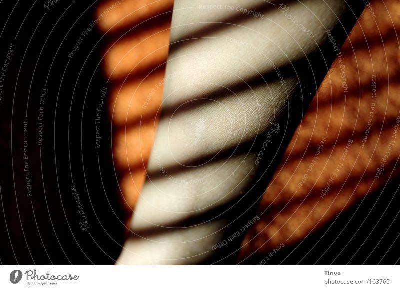 Good Day Sunshine schwarz Beine Linie orange Arme Haut gestreift Jalousie Lichteinfall