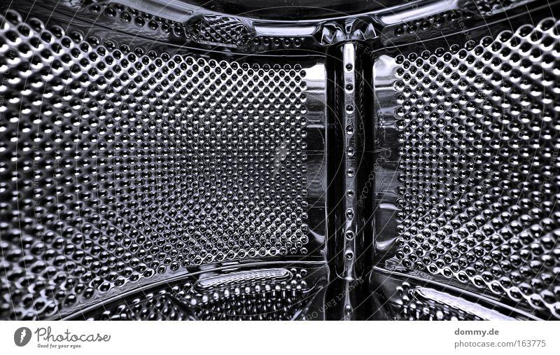 zeit & raum blau kalt grau Metall Perspektive modern Coolness rund Sauberkeit Unendlichkeit Stahl Loch Surrealismus Wäsche waschen Wäsche Glätte