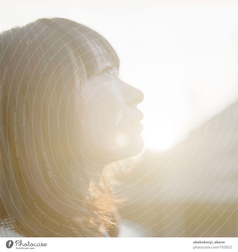 y o u u Farbfoto Nahaufnahme Textfreiraum links Abend Dämmerung Licht Porträt Mensch feminin Junge Frau Jugendliche Gesicht Auge 1 18-30 Jahre Erwachsene Tokyo