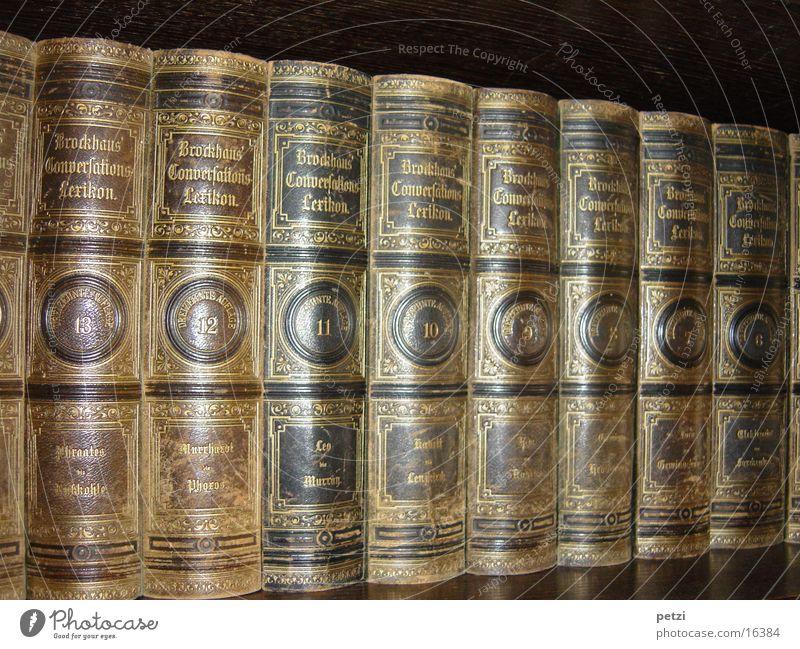 Brockhaus alt Buch Symbole & Metaphern Goldschrift