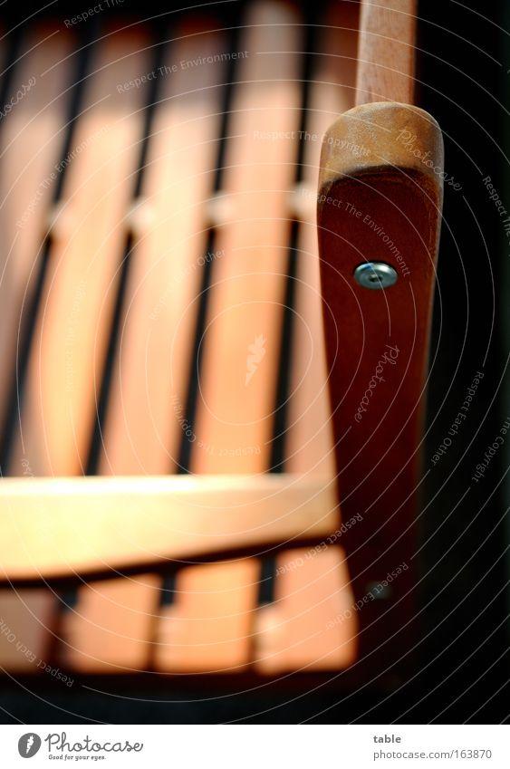 Einladung Freude ruhig schwarz Erholung Holz braun Metall Wohnung Lifestyle Sauberkeit Häusliches Leben Lebensfreude Sehnsucht Idylle Möbel Balkon