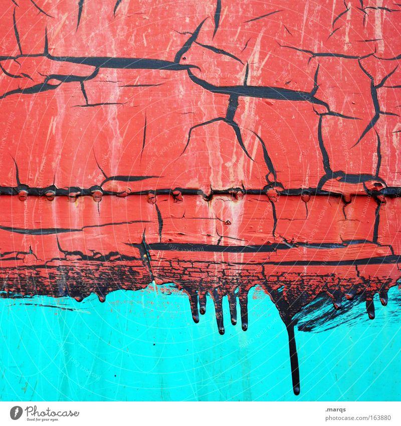 Farbverlauf alt blau rot schwarz Metall Hintergrundbild Wandel & Veränderung Verfall türkis skurril Verlauf Lack bemalt Schweißnaht leuchtende Farben