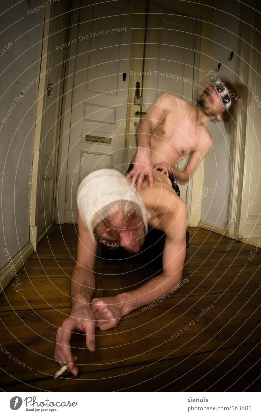 ...denn sie wissen nicht was sie tun... Mensch Mann Jugendliche Freude Erwachsene Bewegungsunschärfe Blick nach oben Paar Sex Haut maskulin Langzeitbelichtung