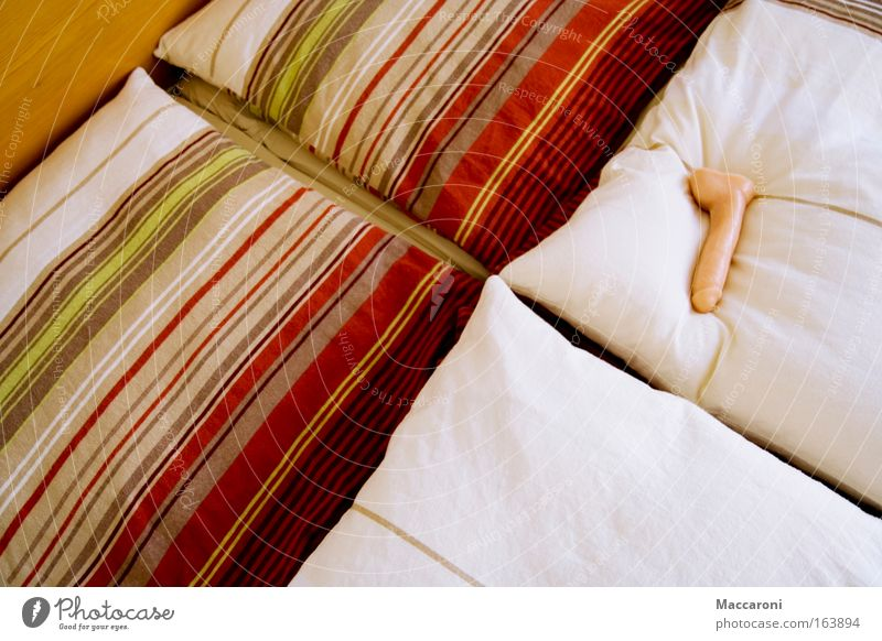 Einsamkeit schön Erholung Freude Erotik Gefühle Glück Stimmung Arbeit & Erwerbstätigkeit rosa Zufriedenheit Sex schlafen berühren Lebensfreude Bett