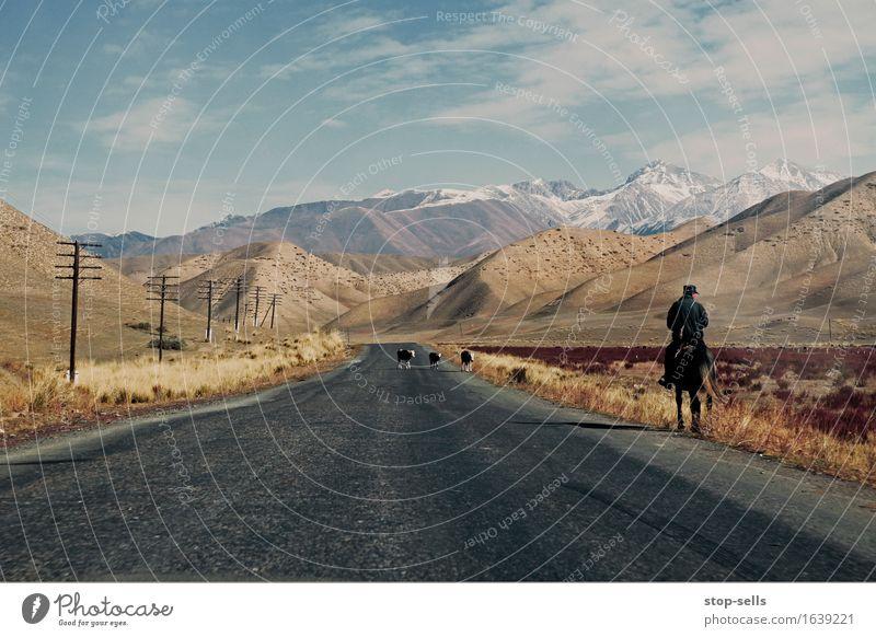 Kyrgyzstan Taxi Driver Mensch Natur Ferien & Urlaub & Reisen Landschaft Einsamkeit Berge u. Gebirge Felsen authentisch Klima Kultur Abenteuer