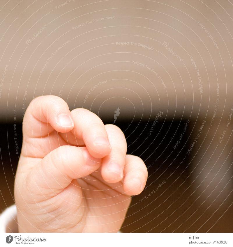 kleine Hand Farbfoto Innenaufnahme Nahaufnahme Makroaufnahme Textfreiraum rechts Tag Kunstlicht Blitzlichtaufnahme Kontrast Zentralperspektive Mensch androgyn