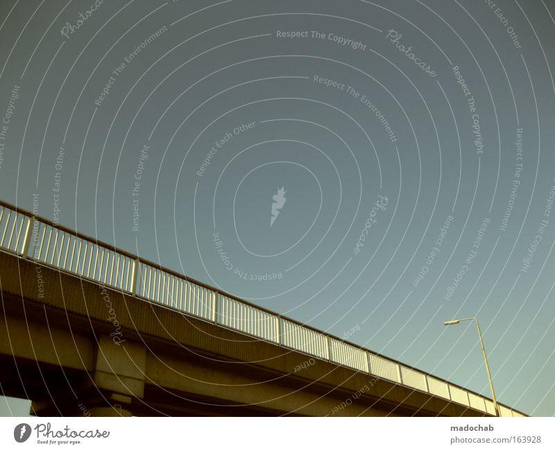 Adobe Bridge CS 5 Farbfoto Außenaufnahme Textfreiraum oben Tag Froschperspektive Menschenleer Brücke Bauwerk Architektur Verkehr Verkehrswege Straßenverkehr