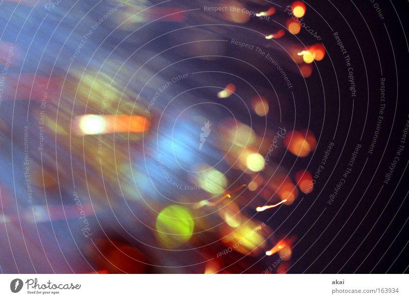 Licht! grün blau rot Freude schwarz Streifen Licht Lichtspiel Belichtung Glasfaser Glasfaserlampe Lichteffekt Ufolampe Fernsehlampe Lichtleiter