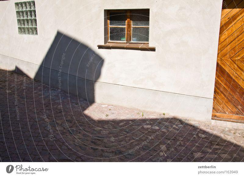 Werder/Havel Stadt Sommer Haus Straße Fenster Gebäude Straßenverkehr Tür Perspektive Dorf historisch Kopfsteinpflaster Garage Gasse Textfreiraum Katzenkopf