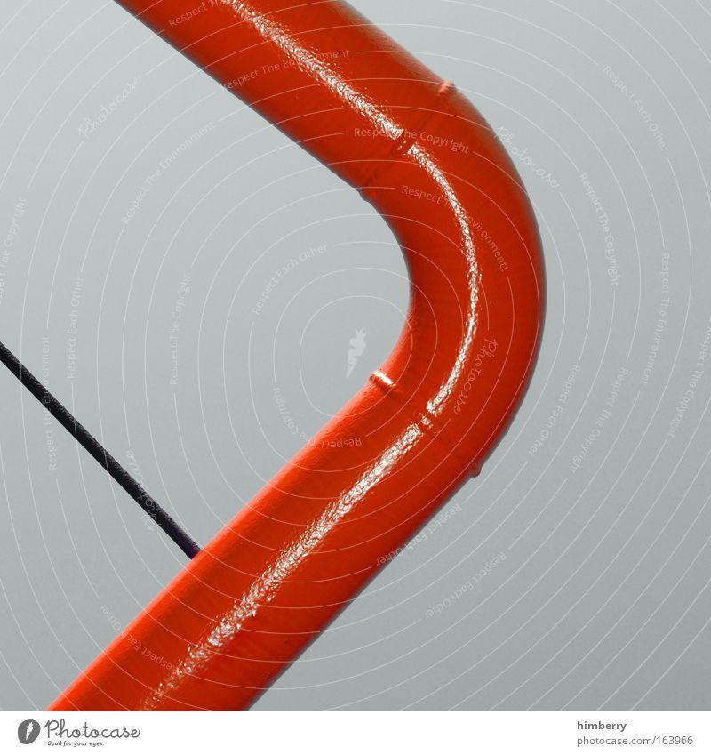 tube rot Umwelt grau Kunst glänzend Energiewirtschaft Zukunft Industrie Baustelle Technik & Technologie einfach Bauwerk Fabrik Wissenschaften Röhren Handwerk