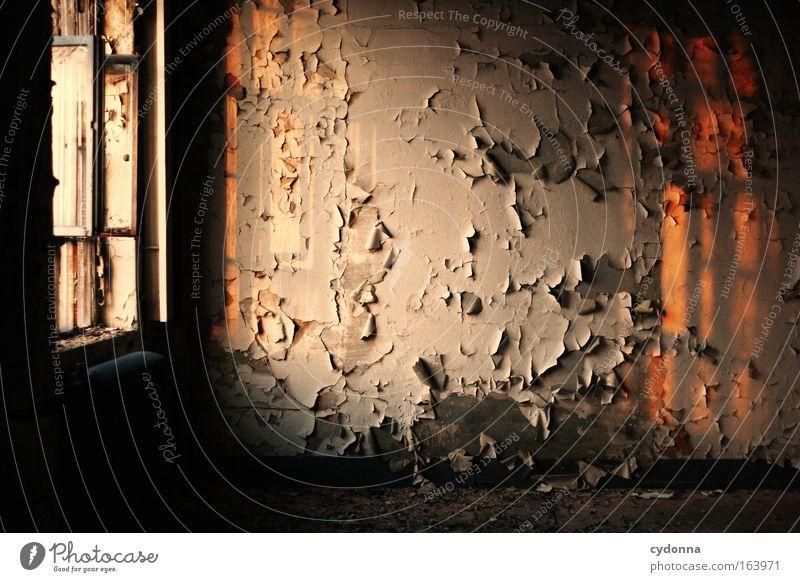 [DD|Apr|09] Die letzten Sonnenstrahlen ruhig Einsamkeit Leben Wand Fenster Architektur träumen Mauer Traurigkeit Farbstoff Raum Zeit ästhetisch Sicherheit