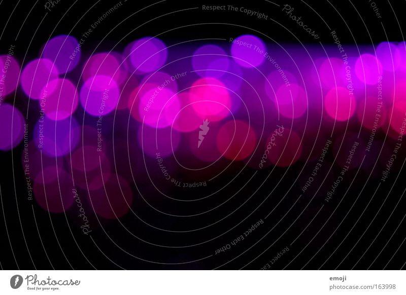 ooooooo Unschärfe rosa pink violett Reflexion & Spiegelung Licht Dekoration & Verzierung Hintergrund schwarz Punkte glasfasern textfreiraum oben