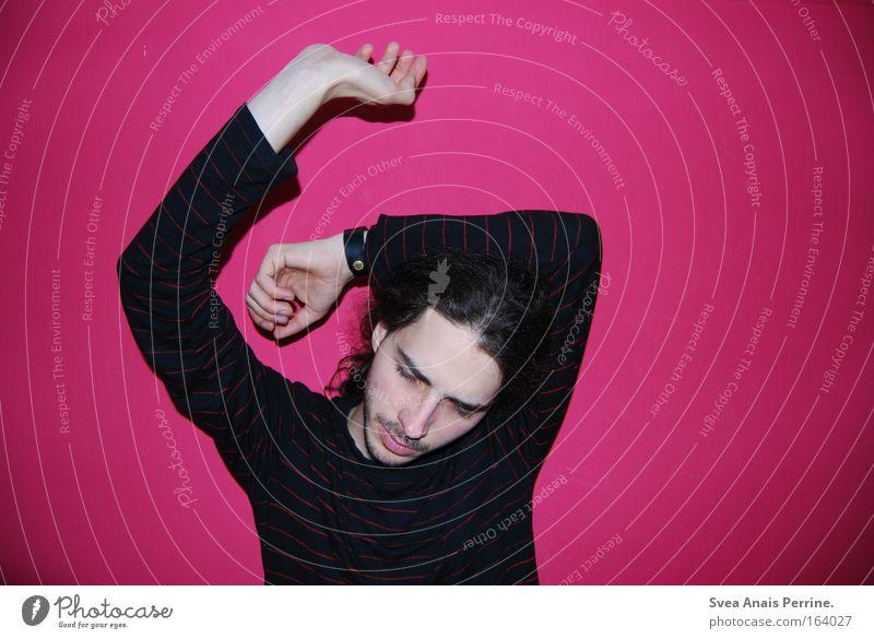Pilze Mensch Mann Jugendliche rot Freude Gesicht schwarz Farbe Party Bewegung Glück Haare & Frisuren Kopf Mund lustig