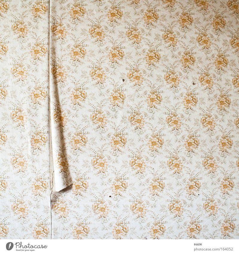 Bitte hier öffnen Häusliches Leben Wohnung Dekoration & Verzierung Tapete Raum Mauer Wand alt authentisch retro Design Nostalgie stagnierend Tapetenwechsel