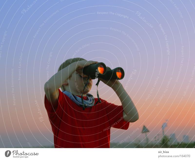 Birdwatcher Natur glänzend Umwelt violett Neugier Kindheit Fernglas Teleskop