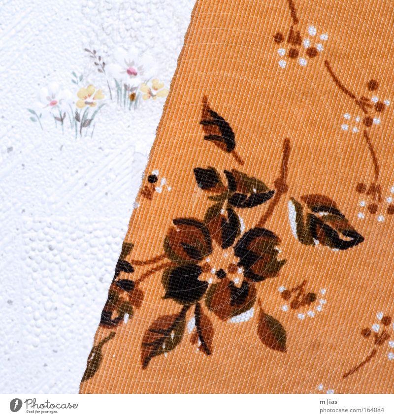 gestalterische Revolution Blume Einsamkeit Wand Traurigkeit Mauer Gebäude orange Kunst Design ästhetisch trist authentisch Wandel & Veränderung Dekoration & Verzierung einzigartig natürlich