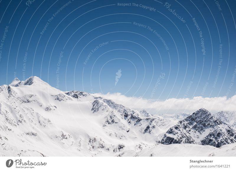 Weißes Glück Umwelt Natur Landschaft Himmel Wolken Winter Schönes Wetter Eis Frost Schnee Berge u. Gebirge stubai Bundesland Tirol Gipfel Schneebedeckte Gipfel
