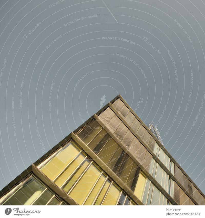 montag ruhetag Haus gelb Fenster Architektur grau Gebäude Business Arbeit & Erwerbstätigkeit elegant Fassade hoch Design modern Hochhaus Erfolg