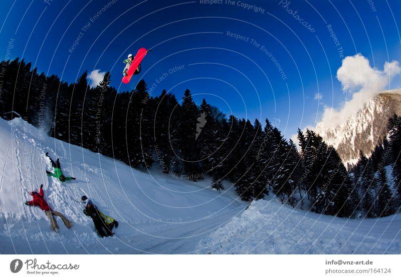 Bombdrop 2 rot Freude Straße Bewegung Schnee Stil Sport fliegen Freizeit & Hobby verrückt hoch Coolness berühren Körperhaltung Risiko Mut