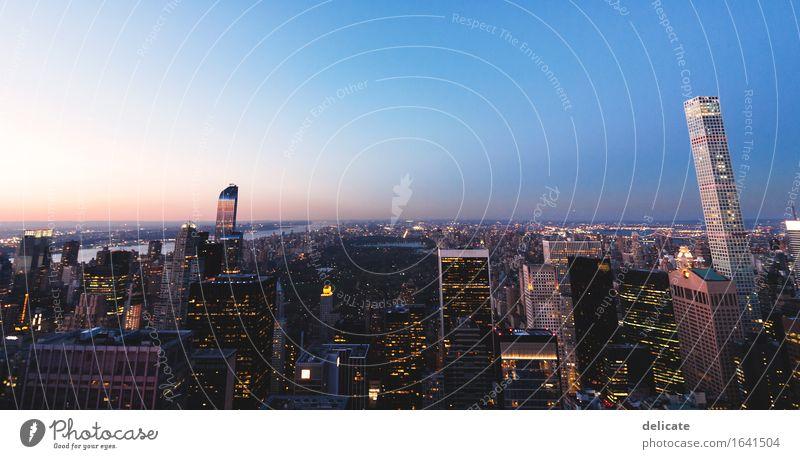 New York I Himmel Ferien & Urlaub & Reisen Stadt Haus Reisefotografie Architektur Gebäude Stadtleben leuchten Hochhaus beobachten Bauwerk USA Skyline