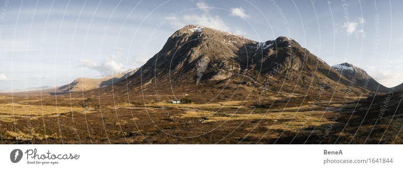 Buachaille Etive More Himmel Natur Ferien & Urlaub & Reisen Pflanze Landschaft Einsamkeit Ferne Berge u. Gebirge Umwelt Wiese natürlich Horizont wild Feld
