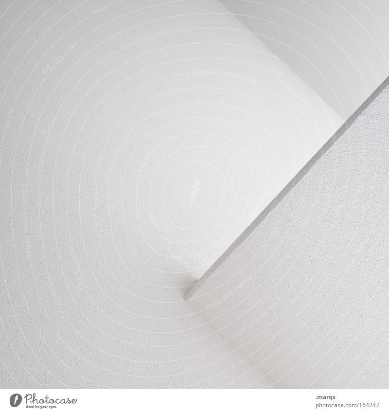 Pure weiß Wand Stil Mauer Linie Architektur Design elegant Beton ästhetisch Ecke einfach Sauberkeit Bauwerk Grafik u. Illustration