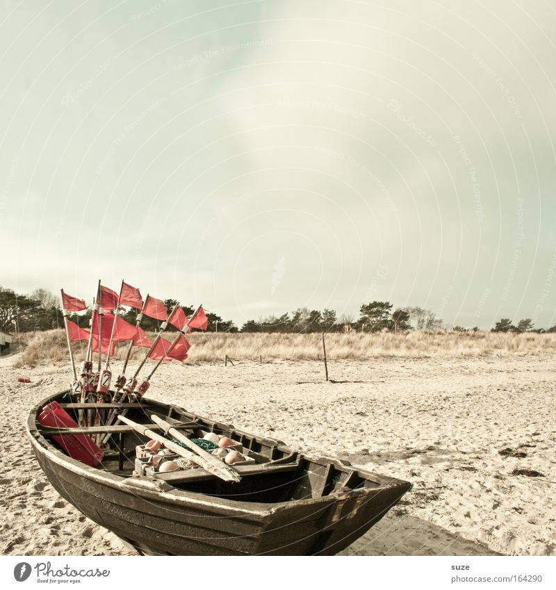 Wasserfest Meer Strand Ferien & Urlaub & Reisen ruhig Einsamkeit Ferne Erholung Freiheit Holz Sand Landschaft Luft Wasserfahrzeug Zufriedenheit Küste warten