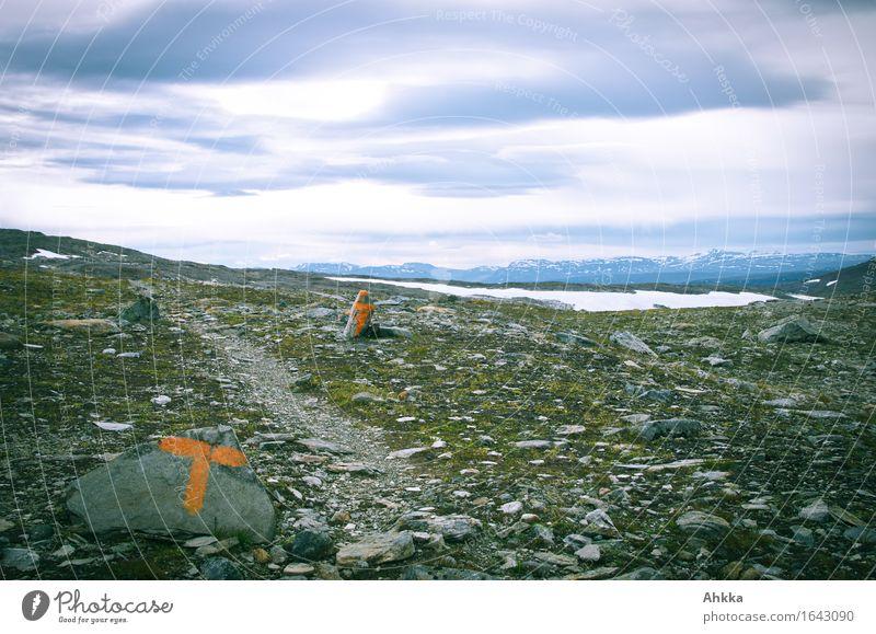 Mondlandschaft Ferien & Urlaub & Reisen Landschaft Einsamkeit Traurigkeit Wege & Pfade grau Tourismus Ausflug Schriftzeichen Schilder & Markierungen Zukunft