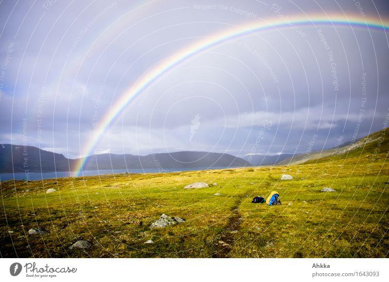 Regenbogentor II Ferne Berge u. Gebirge Wege & Pfade Religion & Glaube leuchten wandern Ausflug Lebensfreude Abenteuer Sicherheit Schutz Vertrauen Mut Tor