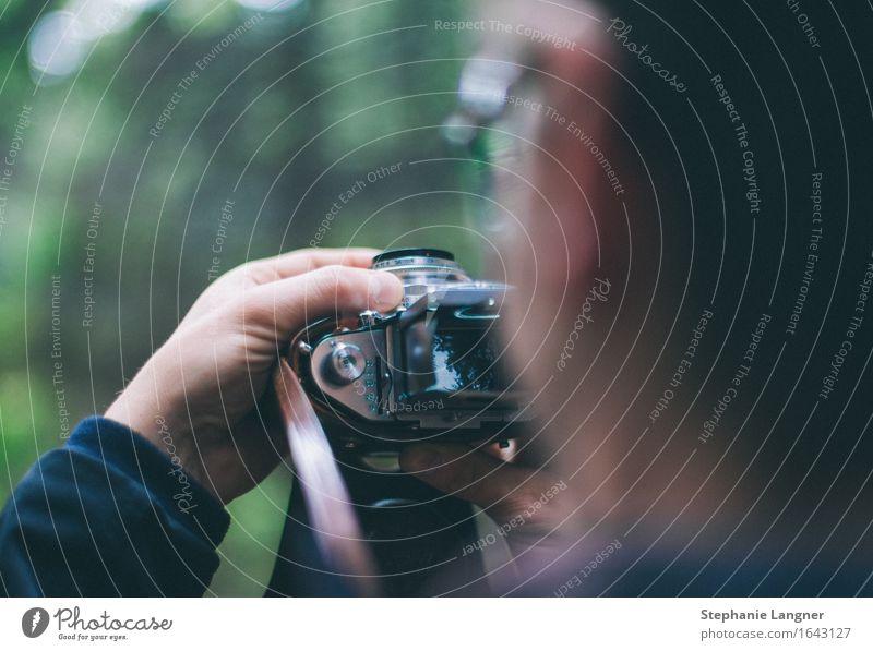 Fotografieren Mensch maskulin Junger Mann Jugendliche Erwachsene Kopf 1 13-18 Jahre 18-30 Jahre 30-45 Jahre Umwelt Natur Landschaft Pflanze Park Wald entdecken