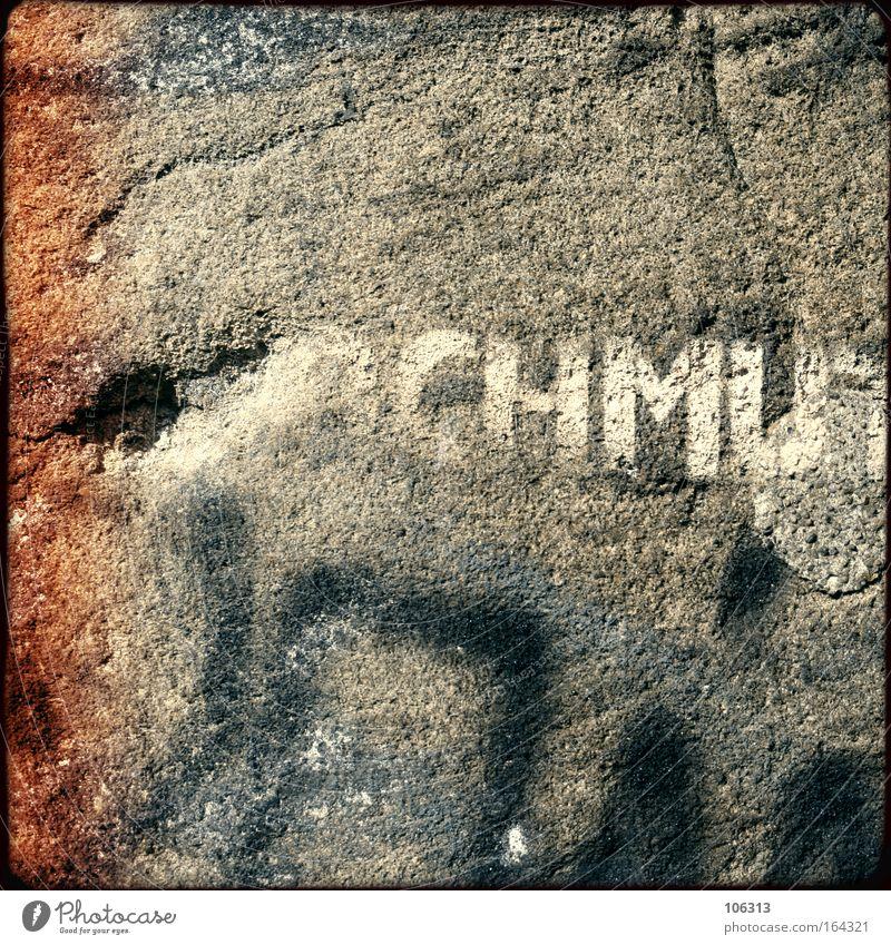 Fotonummer 117256 Wand Graffiti Stein dreckig Loch Riss Straßenkunst