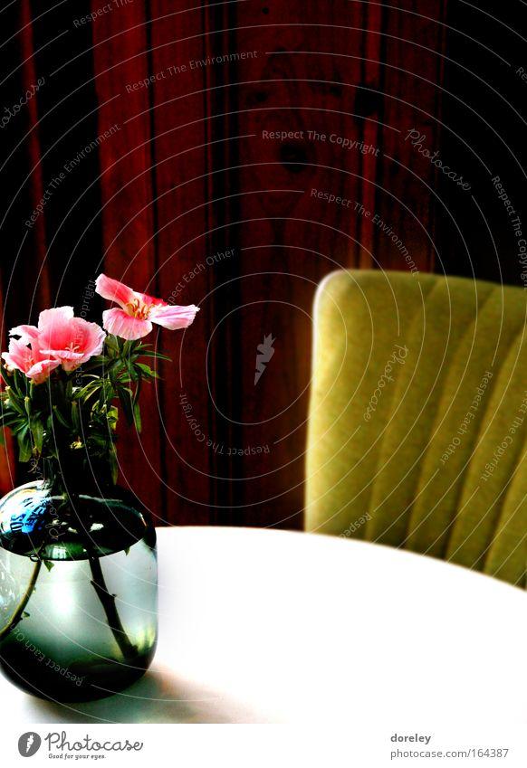 cafe du suede schön weiß Pflanze ruhig Erholung Blüte Holz braun Raum rosa gold Tisch Rose ästhetisch retro Stuhl