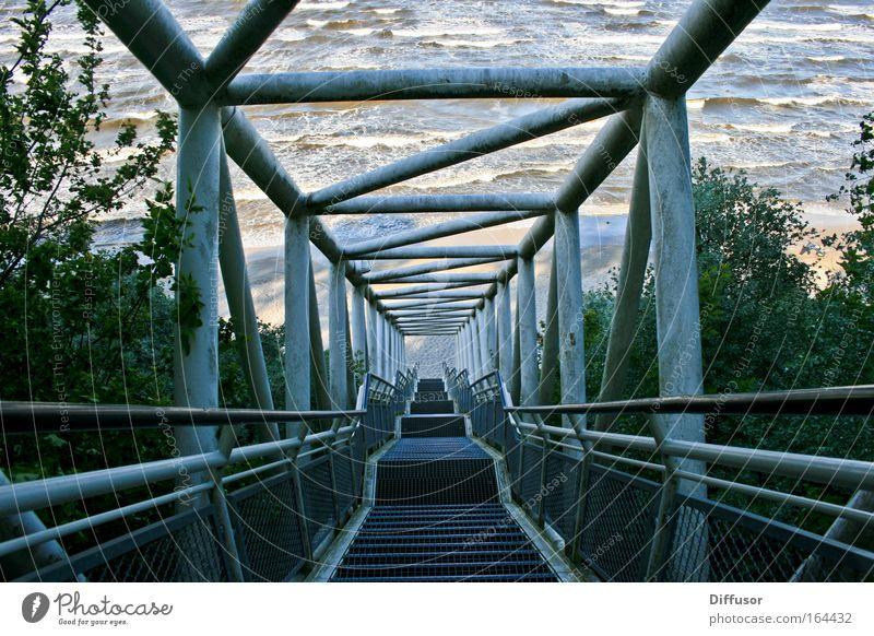 Gangway Natur Wasser Kraft Wellen Küste Treppe Ostsee