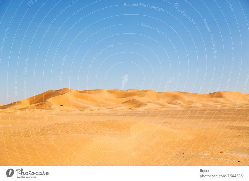 Düne in Oman alte Wüste Rub al khali Himmel Natur Ferien & Urlaub & Reisen schön Sommer weiß Sonne Landschaft Einsamkeit schwarz gelb grau Stein Sand Felsen