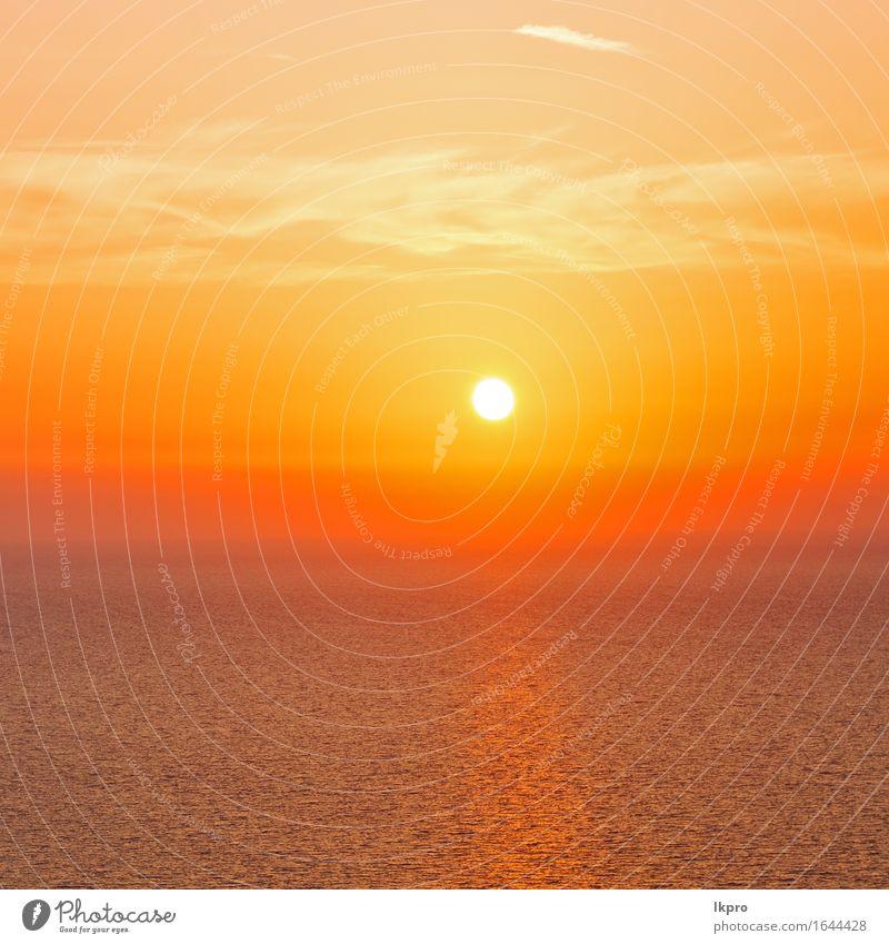 das Himmelmeer Mittelmeerrotes Meer Natur Ferien & Urlaub & Reisen Sommer Farbe weiß Sonne Landschaft Wolken ruhig schwarz gelb Küste Horizont