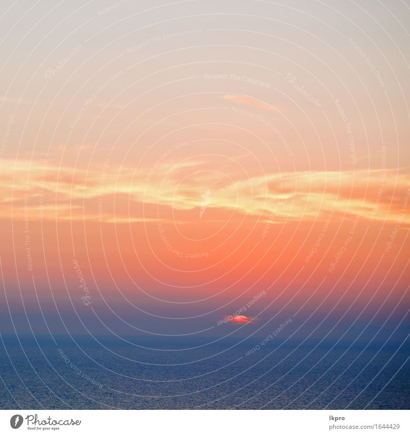Himmel Natur Ferien & Urlaub & Reisen Sommer Farbe weiß Sonne Meer Landschaft rot Wolken ruhig schwarz gelb Küste Horizont