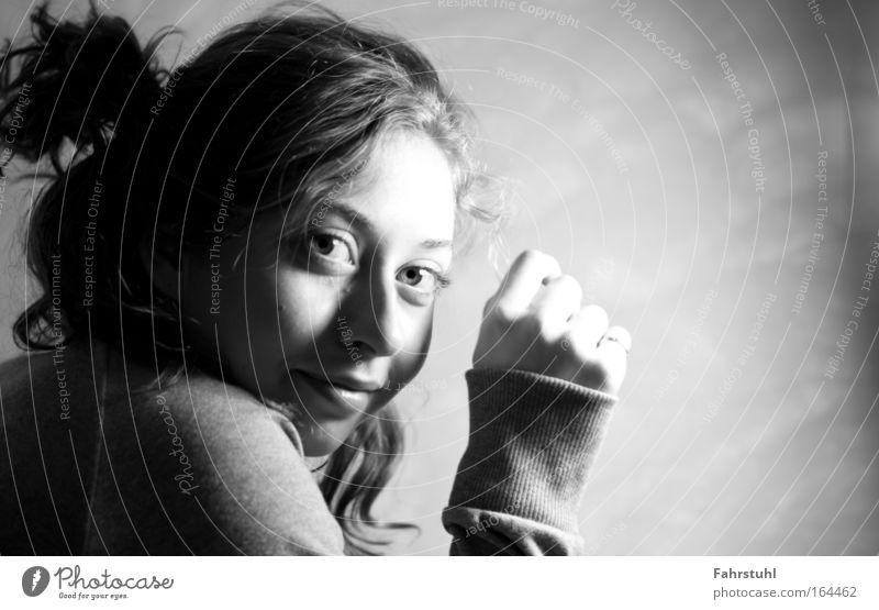 Schnapsschuss Mensch Jugendliche feminin Kopf Erwachsene Pullover 18-30 Jahre