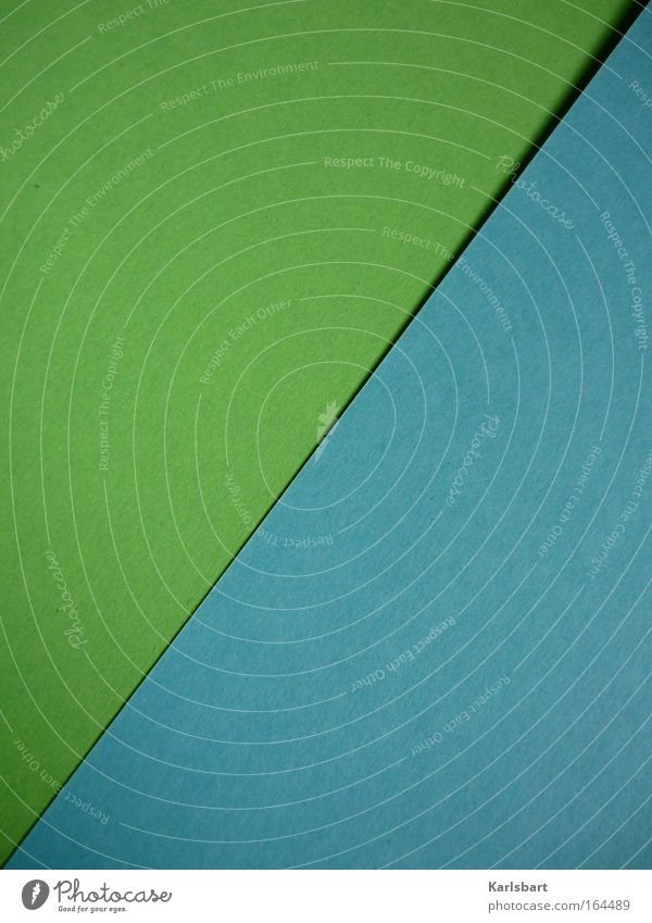 zweifaltigkeit. Design Freizeit & Hobby Handarbeit heimwerken Dekoration & Verzierung Papier schön Falte Strukturen & Formen Karton grün Farbfoto mehrfarbig