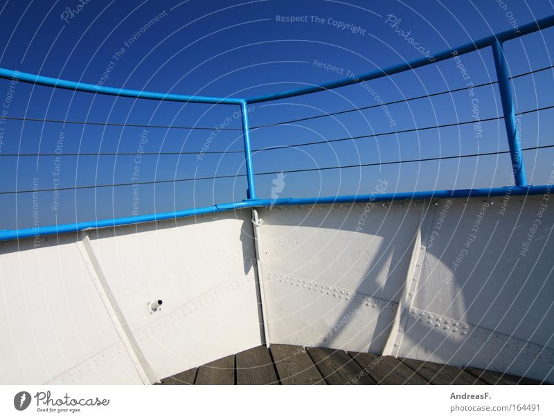 Seegang Himmel blau Ferien & Urlaub & Reisen Meer Ferne Wasserfahrzeug Horizont Abenteuer Segeln Angeln Segelboot Wassersport Blauer Himmel Jacht Fähre Seemann