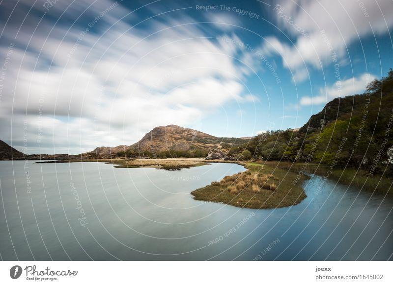 Zeit Natur Landschaft Park Hügel Felsen Berge u. Gebirge Insel Irland See Upper Lake schön blau braun weiß Idylle Kerry Farbfoto Außenaufnahme Tag