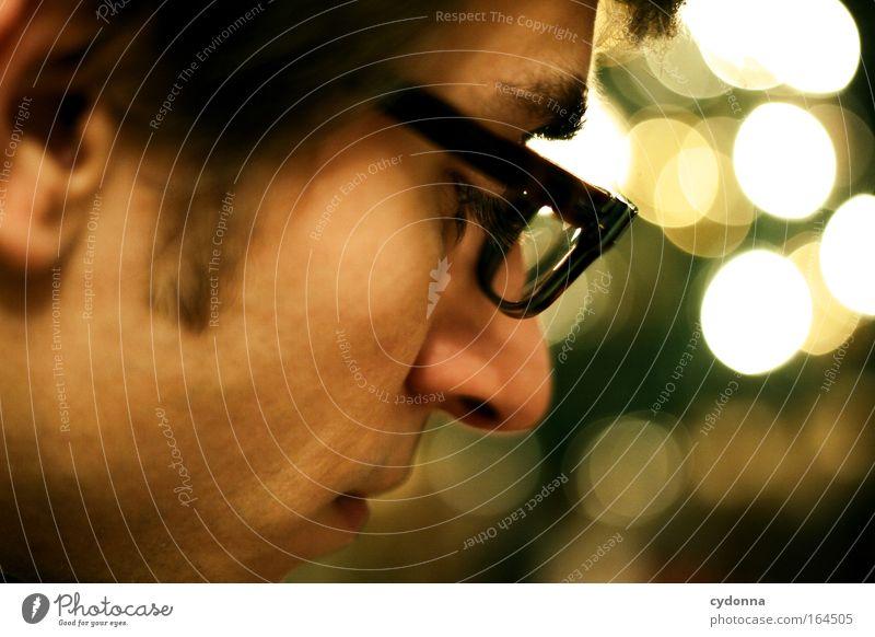Rabbit in Your Headlight Mensch Jugendliche Mann 18-30 Jahre Gesicht Erwachsene Traurigkeit Gefühle Kopf Stimmung maskulin Warmherzigkeit Nase Brille Sicherheit