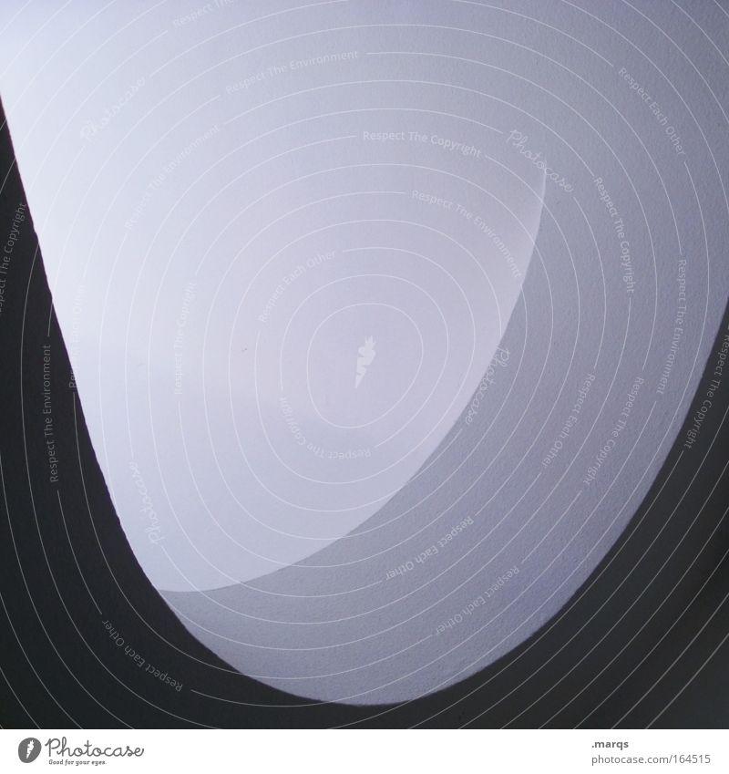 u Schwarzweißfoto Innenaufnahme abstrakt Textfreiraum oben Textfreiraum Mitte Gebäude Architektur Mauer Wand Schriftzeichen alt ästhetisch rund Sauberkeit grau