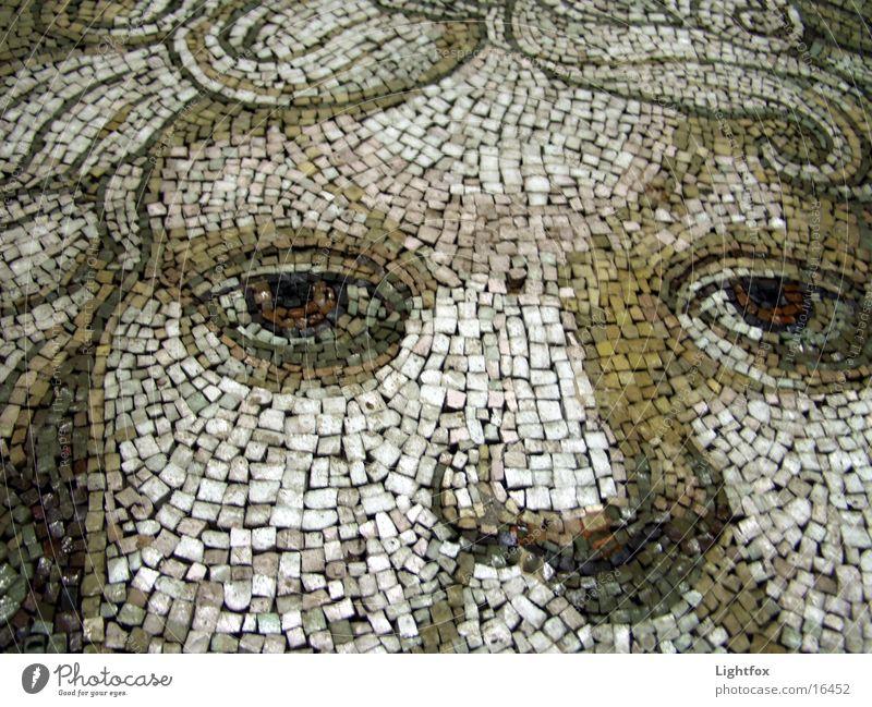 Mosaik oder moss ik nik Petersdom Vatikan Rom Italien Freizeit & Hobby Detailaufnahme Auge Gesicht Mund