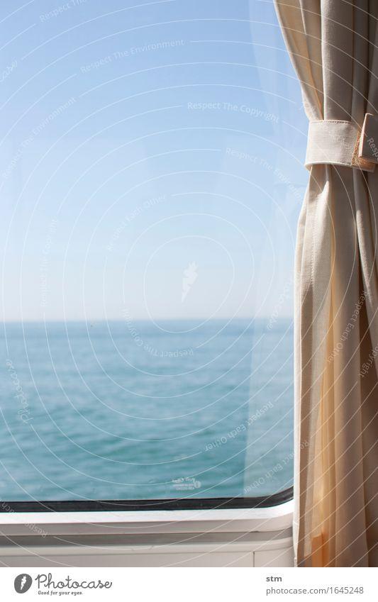 mit meerblick Himmel Natur Ferien & Urlaub & Reisen schön Sommer Wasser Sonne Meer ruhig Ferne Küste Lifestyle Freiheit Wasserfahrzeug Tourismus