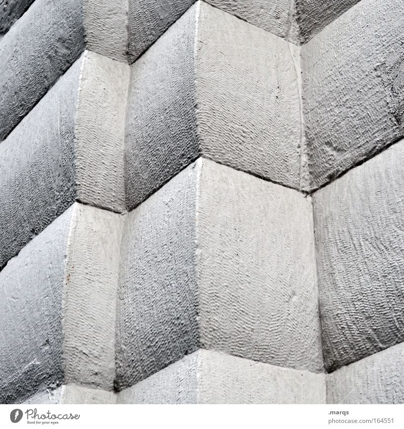 500   Perception alt Gebäude Linie Architektur Beton Fassade Macht Ecke Vergänglichkeit einzigartig Verfall Grafik u. Illustration bizarr Illusion