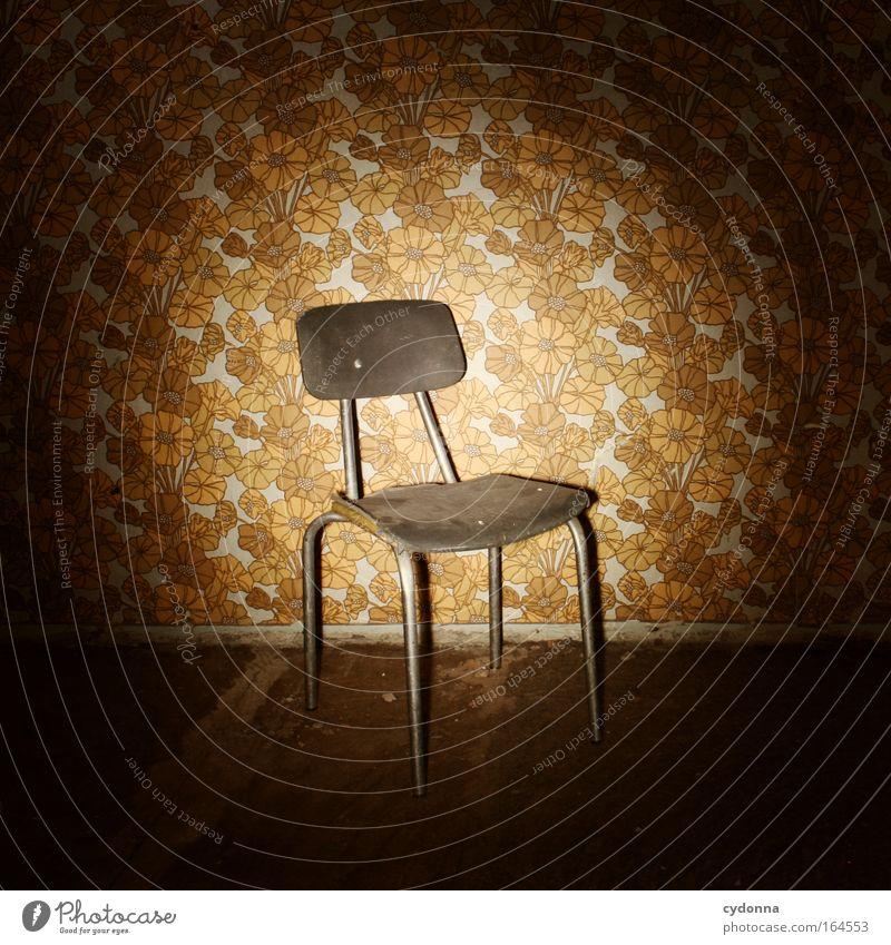 Tapetophobie Zeit Kraft Angst Design ästhetisch Erfolg Häusliches Leben Sicherheit Macht retro Stuhl Vergänglichkeit Kultur Bildung Neugier Kreativität