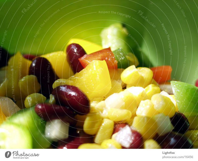 Gemüse grün Ernährung Farbe Gesundheit Lebensmittel lecker Dose Schalen & Schüsseln Salat Mais Zwiebel Kalorie Essig Tupperware