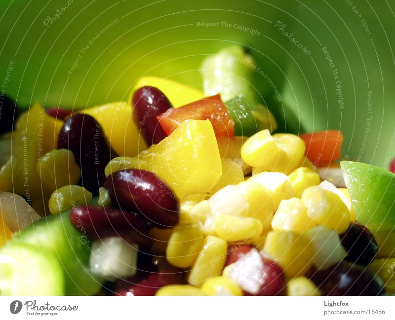 Gemüse grün Ernährung Farbe Gesundheit Lebensmittel Gemüse lecker Dose Schalen & Schüsseln Salat Mais Zwiebel Kalorie Essig Tupperware