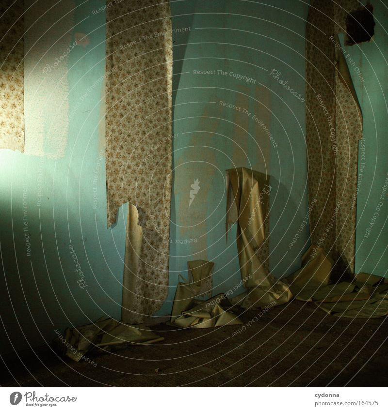 Haltbarkeitsdatum überschritten Wand Traurigkeit Zeit Raum Angst Design ästhetisch Dekoration & Verzierung Häusliches Leben Wandel & Veränderung bedrohlich retro einzigartig Vergänglichkeit Kreativität Umzug (Wohnungswechsel)