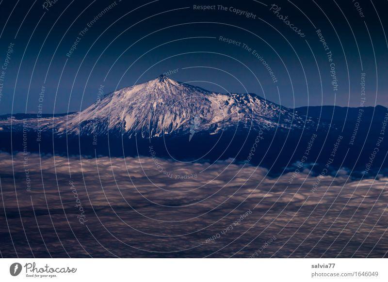 über den Wolken... Himmel Ferien & Urlaub & Reisen blau weiß Landschaft Ferne Berge u. Gebirge Umwelt Schnee Freiheit Horizont Tourismus Perspektive Insel Klima